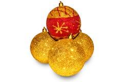 Jouets de Noël sous forme de boule Photographie stock libre de droits