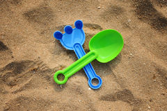 Jouets de plage Photos stock