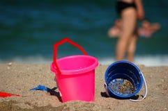 Jouets de plage Image libre de droits