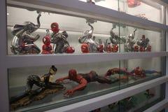 Jouets de plastique de Spiderman photographie stock