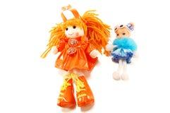 Jouets de poupées de tissu Photos stock