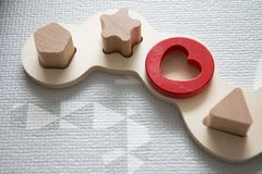 Jouets de puzzle de bébé photographie stock