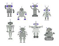 Jouets de robot Photos stock