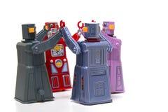 Jouets de robot de bidon de vintage Photo stock