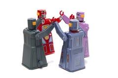 Jouets de robot de bidon de vintage Image stock