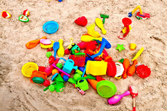 Jouets de sable Photos stock