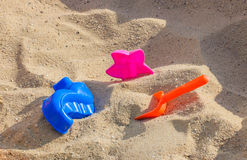 Jouets de sable Photos libres de droits