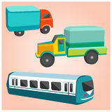 Jouets de transport illustration stock