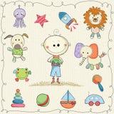 Jouets doux de bébé Photo stock