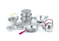 Jouets en aluminium de cuisine images stock