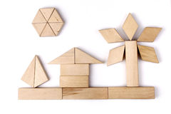 Jouets en bois Images libres de droits