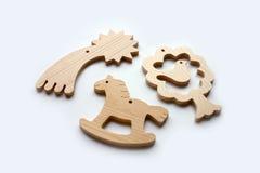 Jouets en bois de découpage Photographie stock