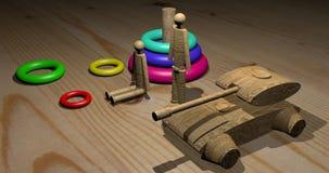 Jouets en bois peu communs images libres de droits