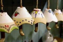 Jouets en céramique de parapluie Images libres de droits