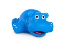 Jouets en caoutchouc de bain, hippopotame bleu Images stock