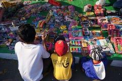 Jouets en plastique Photos libres de droits
