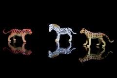 Jouets en plastique animaux image libre de droits