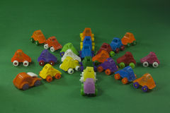 jouets en plastique colorés Photos libres de droits