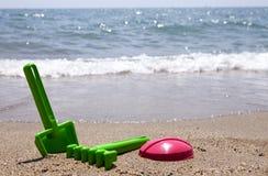 Jouets en plastique de plage Photographie stock