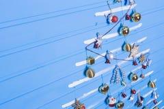 Jouets et textures de Noël Photos stock