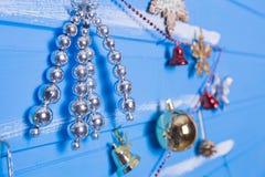 Jouets et textures de Noël Photographie stock libre de droits