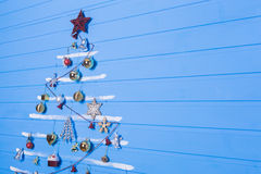 Jouets et textures de Noël Images stock