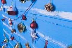 Jouets et textures de Noël Photographie stock
