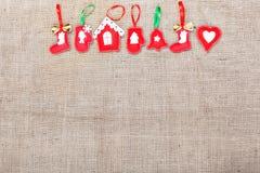 Jouets fabriqués à la main de Noël Image stock