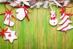 Jouets felted par Noël Photos libres de droits
