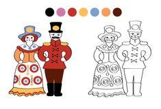 Jouets folkloriques russes d'argile illustration stock
