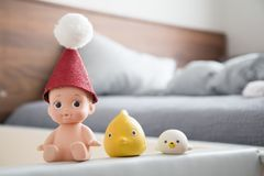Jouets mignons de bébé de salle de bains image stock