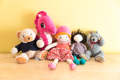 Jouets mous image stock
