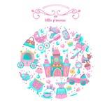 Jouets pour de petites princesses Ensemble de cliparts de vecteur illustration de vecteur