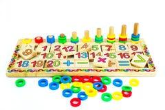 Jouets pour des enfants, la géométrie Image stock