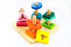 Jouets pour des enfants, puzzle, la géométrie Image libre de droits