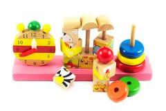 Jouets pour des enfants, puzzle, la géométrie Images libres de droits