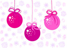 Jouets roses de Noël Image libre de droits