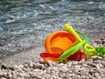 Jouets sur la mer Photo libre de droits
