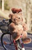 Jouets sur un vélo en parc Images stock