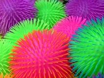 Jouets tactiles colorés par néon Images libres de droits