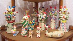 Jouets traditionnels d'argile de Kaluga image stock