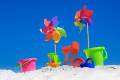Jouets traditionnels de plage Photo stock