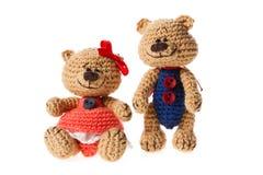 Jouets tricotés minuscules Image stock