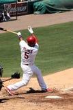 Joueur Albert Pujols de cardinaux de MLB St Louis Image stock