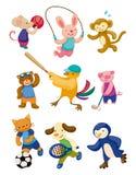 Joueur animal de sport de dessin animé Photos libres de droits