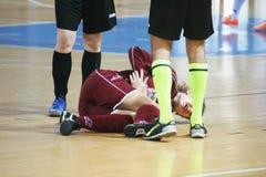 Joueur blessé Images stock