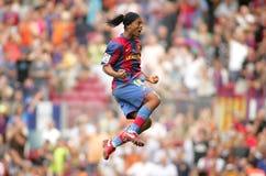 Joueur brésilien Ronaldinho dans l'action Image libre de droits