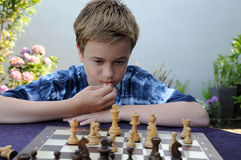 Joueur d'échecs photo stock