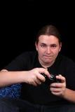 Joueur d'adolescent de jeu vidéo Image libre de droits