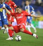 Joueur d'Adriano Correia Séville FC Images stock